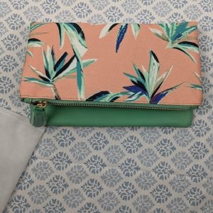 Rachel Pally Reversible Clutch Green and Floral